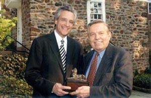 Attorney Tom Kline with David C. Stinebeck, Interim President
