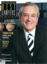 Tom Kline in publication - Philadelphia's Best Lawyers