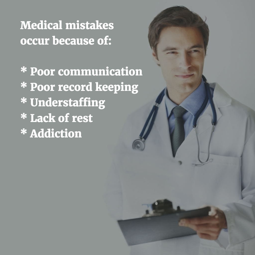 Reasons Medical Mistakes Occur
