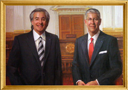 Portrait of Tom Kline and Shanin Specter by Michael Shane Neal
